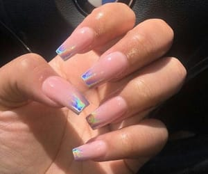 bmw, holographic, and acrylic nails image