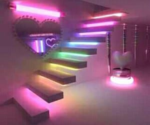 heart, kawaii, and lights image