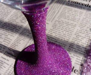 newspaper, purple, and violet image