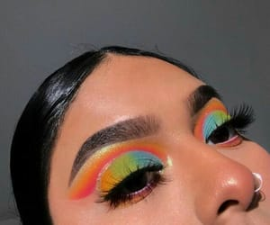 beauty, eyebrows, and eyeshadow image