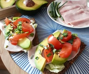 avocado, fruit, and meat image