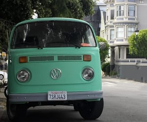 cars, vans, and green image