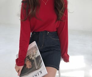 fashion, red, and inspo image