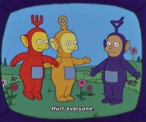 cartoon, teletubbies, and hurt image