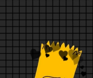 aesthetic, bart simpson, and black image