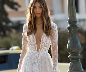 boho, casamento, and dress image