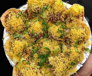 food, india, and chaat image