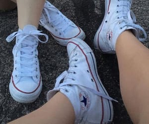 converse, girls, and road image