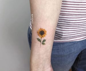tattoo and sunflower image
