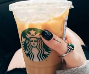 black nails, drink, and ripped jeans image