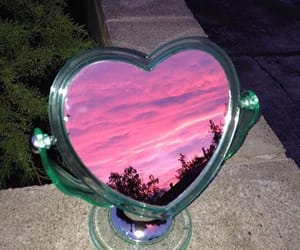 pink, mirror, and sky image