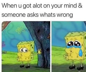 meme, sad, and spongebob image
