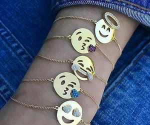 accessories, gold, and smiles image