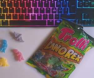candy, dino, and snack image