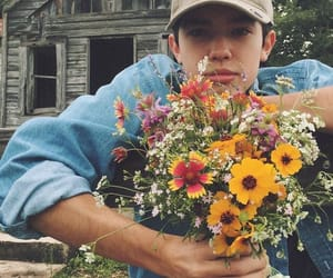 flowers, boy, and aesthetic image