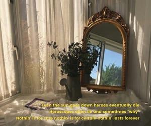 curtains, mirror, and die image