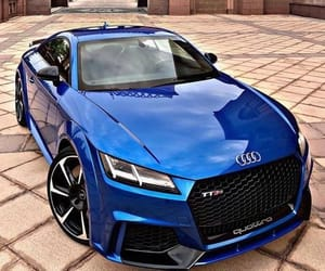 audi, blue, and car image