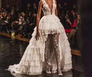 catwalk, Couture, and dress image