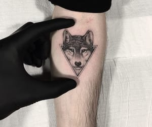 tattoo, wolf, and wolf tattoo image