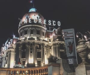 cannes, night, and travel image