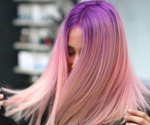 hair, long, and pink image