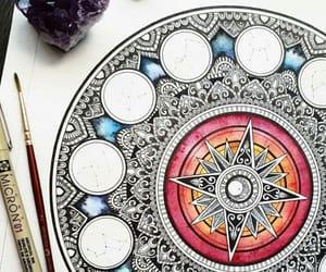 arte, dibujo, and mandalas image