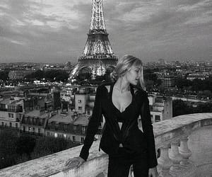 accessories, black and white, and blonde image