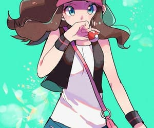 anime girl, pokemon trainer, and fanart image