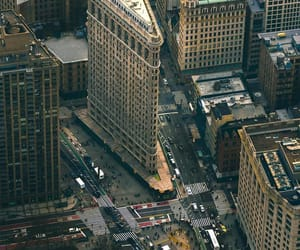 aerial photography, buildings, and downtown image