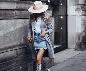 blonde, boots, and chic image