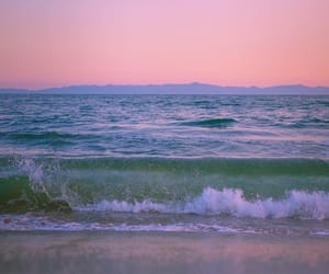 ocean, beach, and pastel image