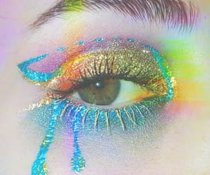 art, eyes, and glitter image