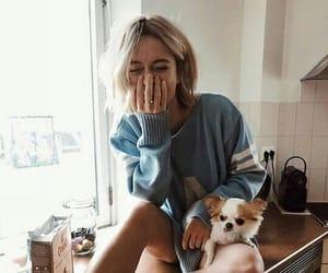 dog, evening, and puppie image