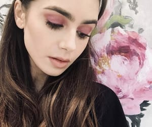 beauty, brunette, and lily collins image