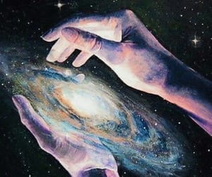 galaxy, art, and space image