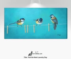 birds on a wire, laundry room decor, and room wall decor image