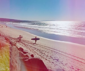 beach, california, and board image