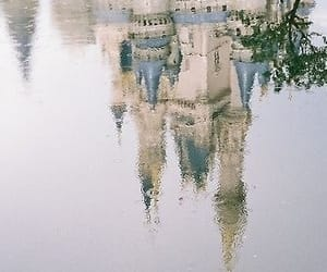 castle, fairytale, and reflection image