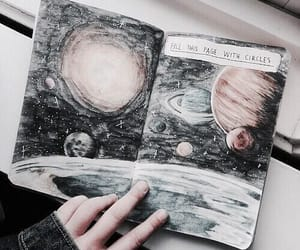 art, planet, and aesthetic image