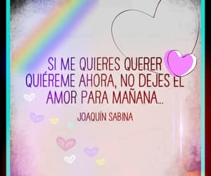 amor, querer, and palabras image