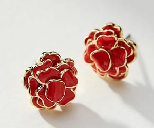 enamel, flowers, and floral earrings image