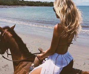 ride a horse on the beach image