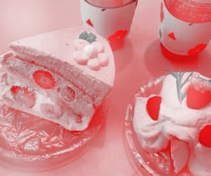 aesthetic, pink, and cake image