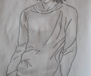 death note, L, and l lawliet image