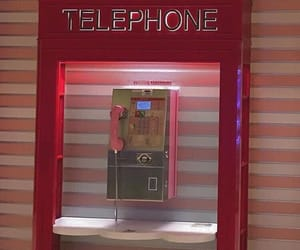 red, aesthetic, and telephone image