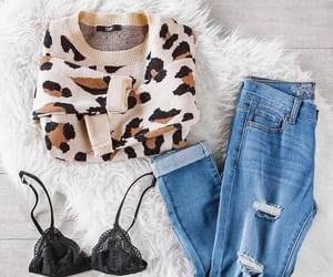 bralette, fashion, and jeans image