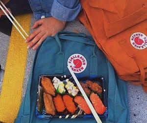 aesthetic, blue, and sushi image