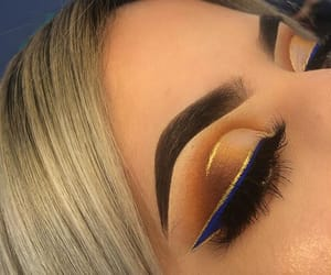 blue, eyebrows, and gold image