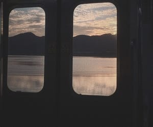 aesthetic, sunset, and train image