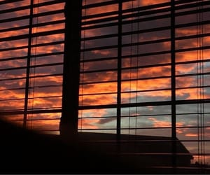 sky, blinds, and sunset image
